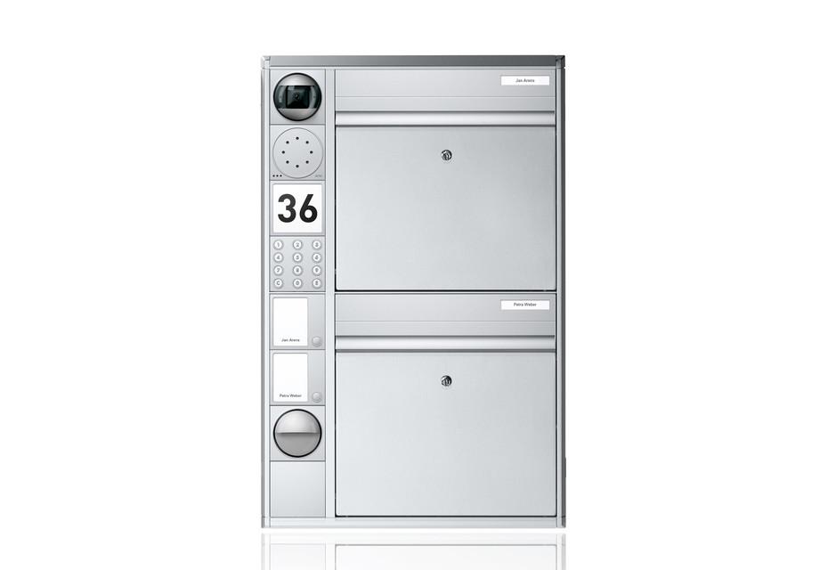 Portier Briefkastensystem wandmontiert, 2fach