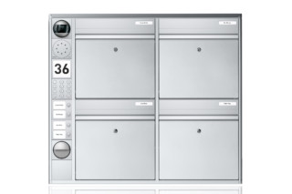 Portier wall-mounted letterbox system, 4 compartments  by  Ritto