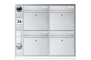 Portier Briefkastensystem wandmontiert, 4fach  von  Ritto