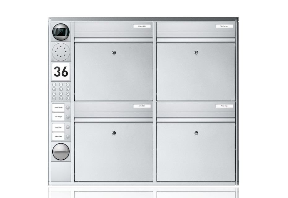 Portier Briefkastensystem wandmontiert, 4fach