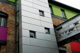 Distinctive aluminium exterior cladding, Toffee factory  by  RMIG