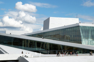 Embossed, intended and perforated Cladding, New Opera House Oslo  by  RMIG