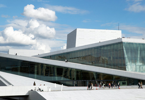 Geprägte, perforierte Fassadenbekleidung, Neue Oper Oslo