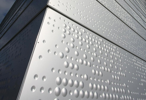 Embossed Intended And Perforated Cladding New Opera