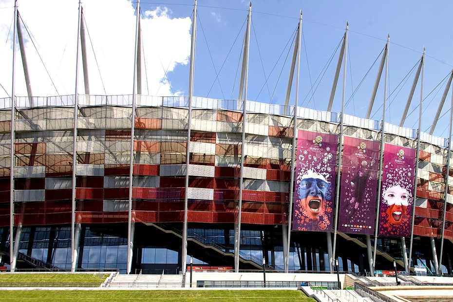 Expanded metal cladding, National Stadium in Warsaw