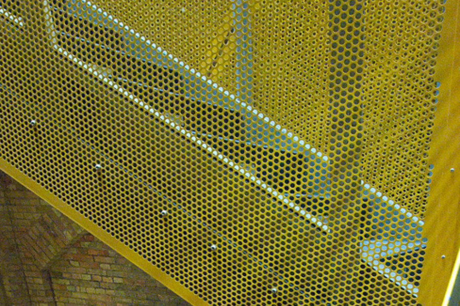 Balustrade fillings with perforated panels, Bismarcktower in Dresden