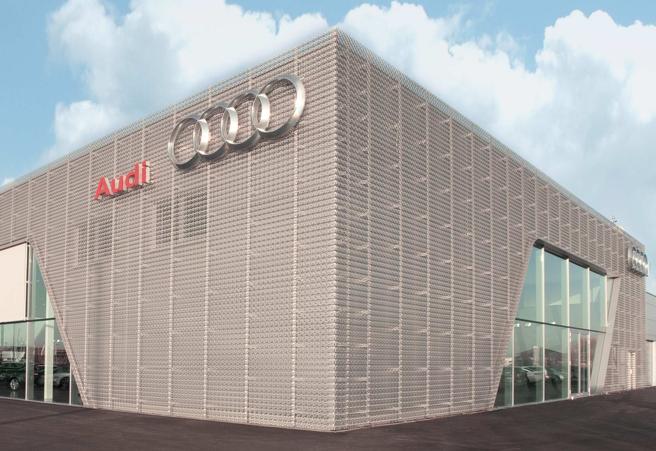 Perforated Cladding Audi Bitterfeld By Rmig Stylepark