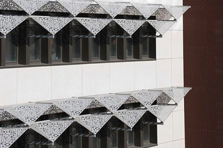 Perforated sun screens,  Lycée Polyvalent in Saint Romain  by  RMIG City Emotion