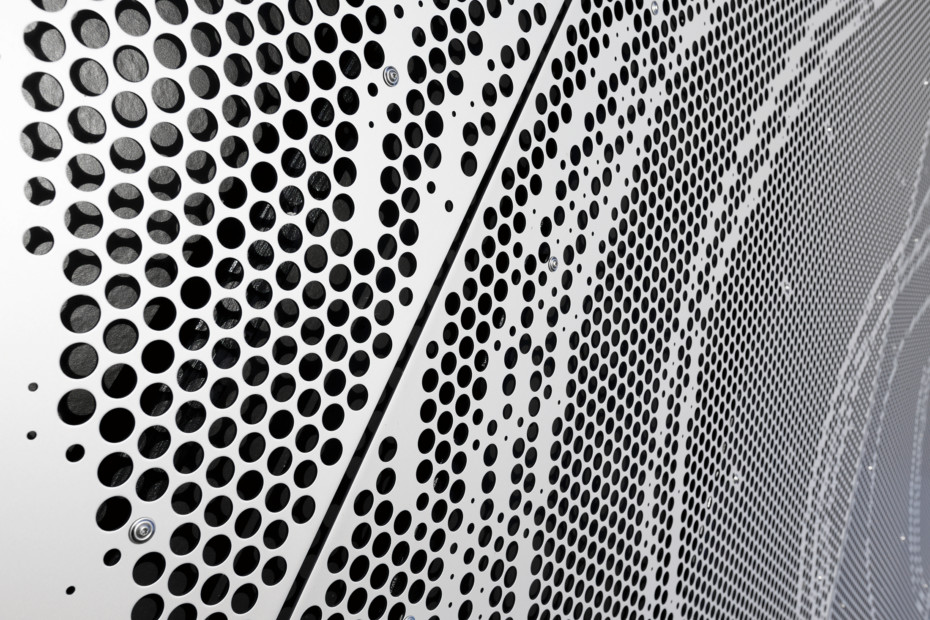 Perforated aluminium cladding, Borupgaard