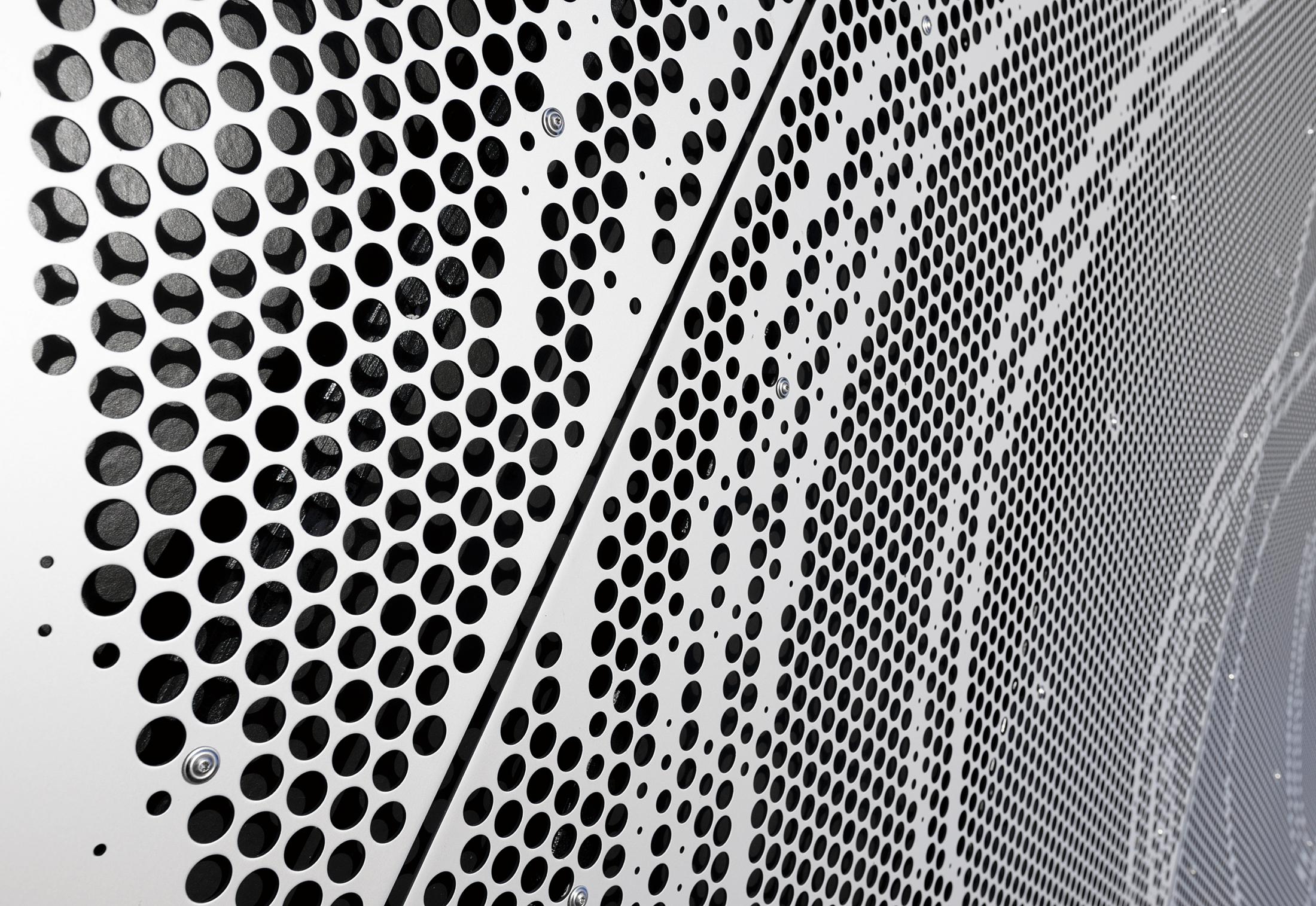 Perforated Aluminium Cladding Borupgaard By Rmig Stylepark
