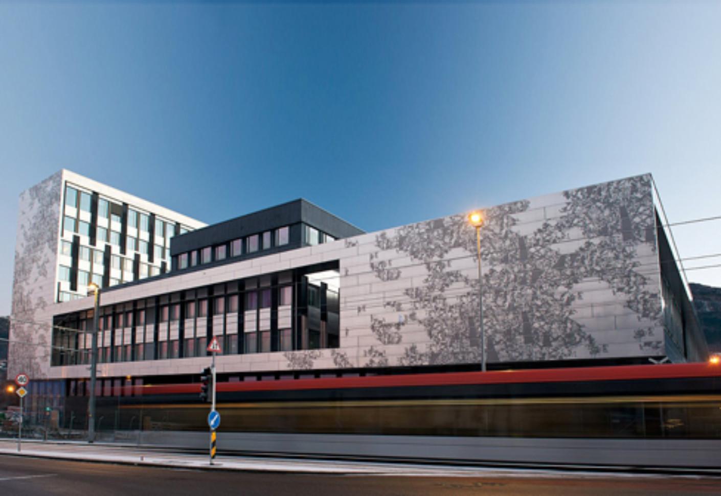Perforated Aluminium Cladding University In Bergen By