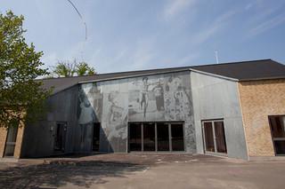 Lochblechfassade mit bildgetreuer Darstellung, Skansevejens Skole  von  RMIG City Emotion