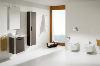 Dama hand rinse basin with vanity unit  by  Roca