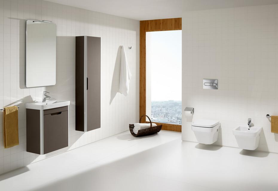 Dama hand rinse basin with vanity unit