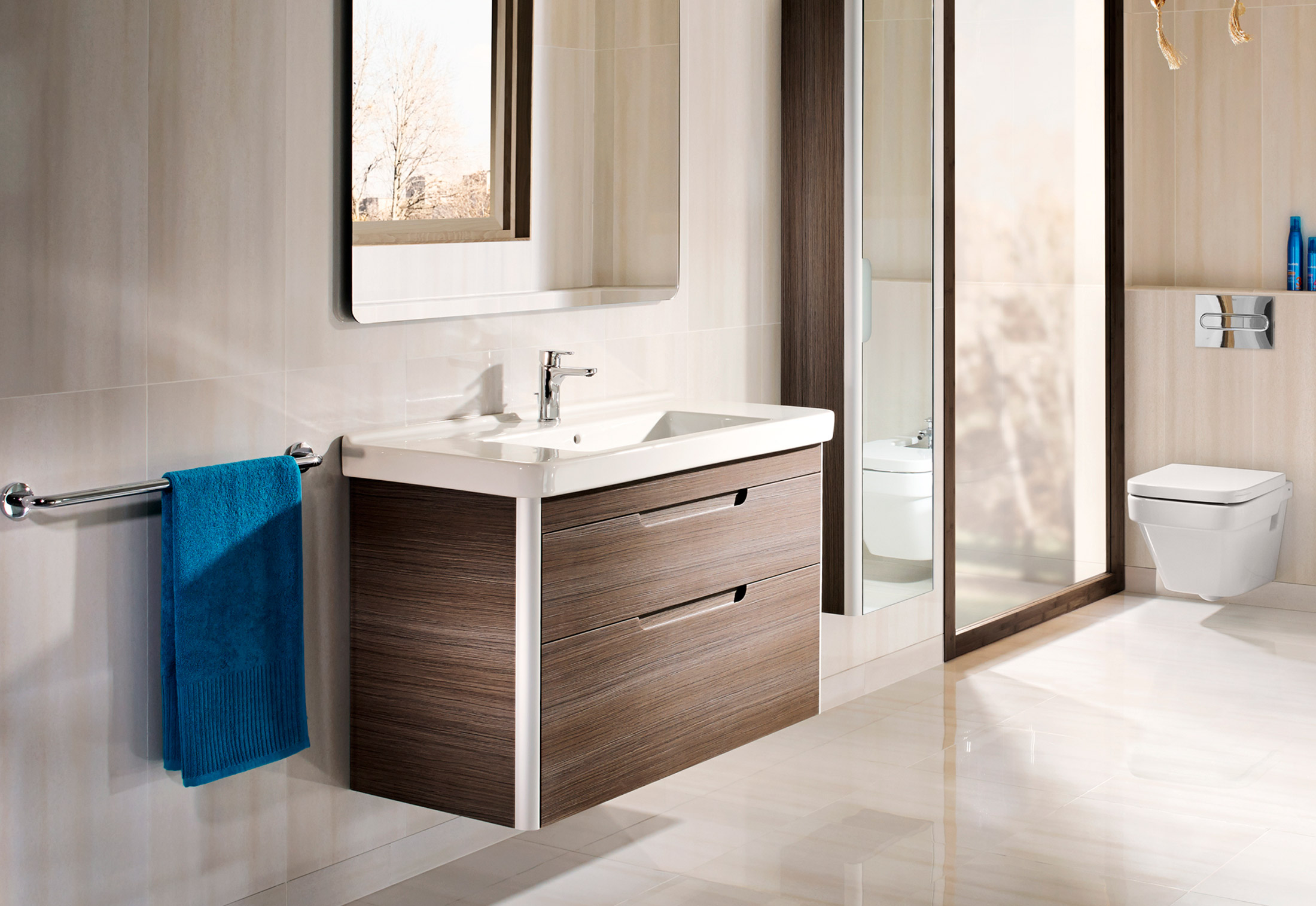 Dama wash basin with vanity unit by Roca | STYLEPARK