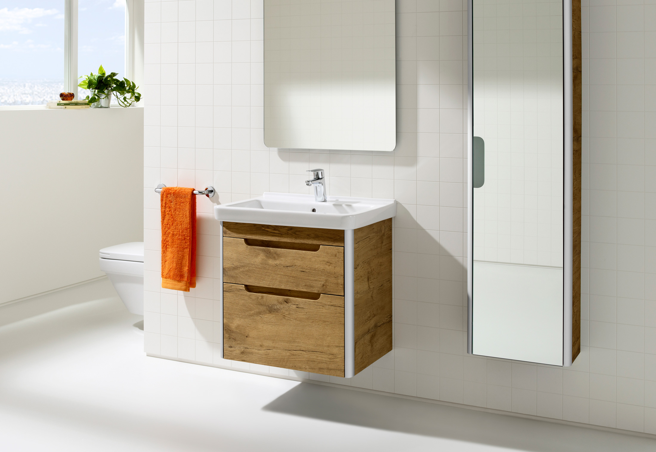 Dama wash basin with vanity unit by Roca | STYLEPARK