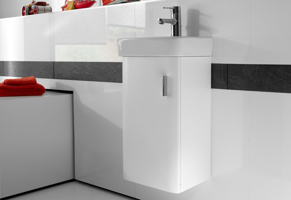 Senso Square hand rinse basin with vanity unit