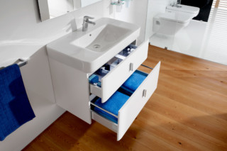 Senso Square wash basin with vanity unit  by  Roca