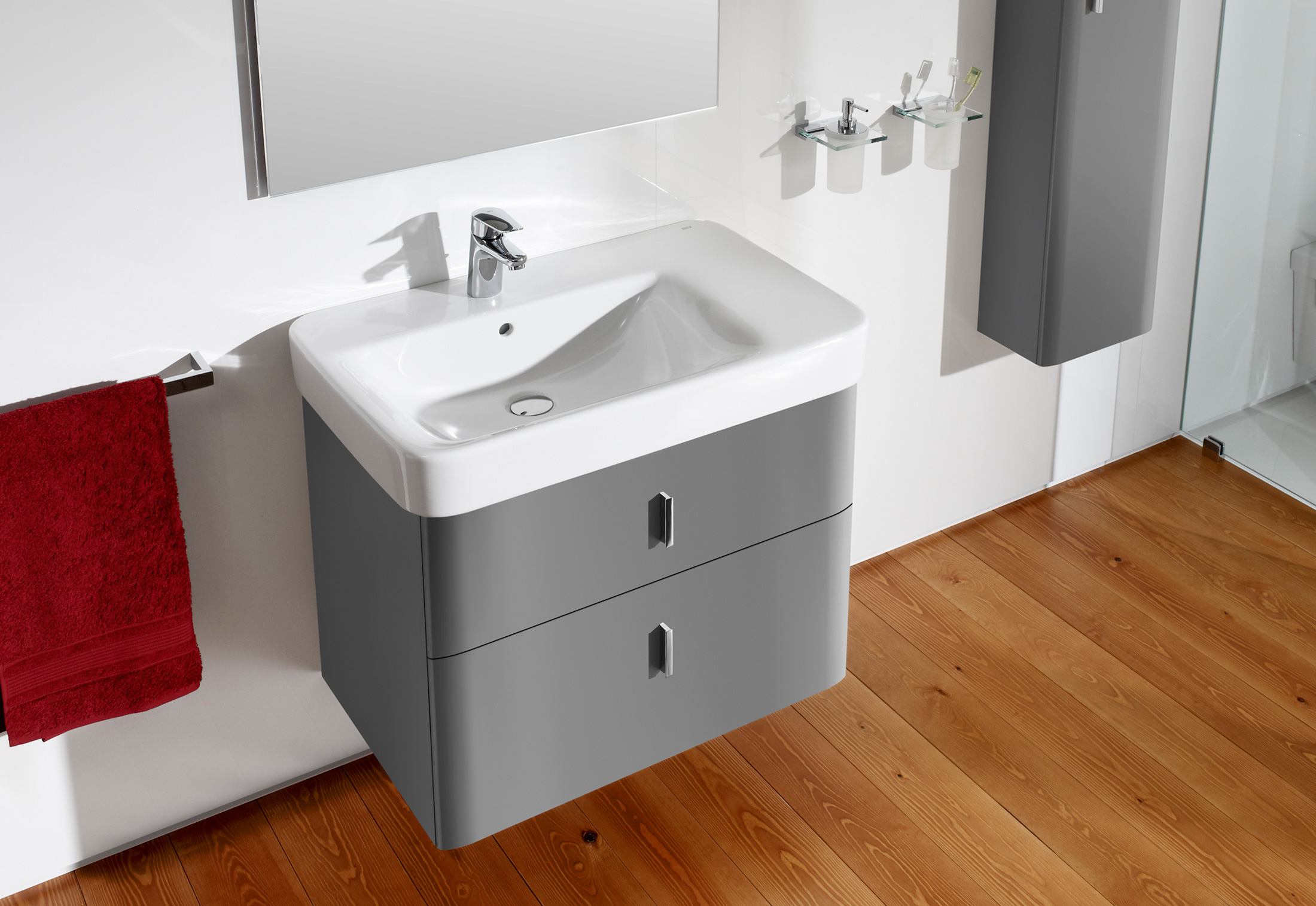 Senso Square Wash Basin With Vanity Unit