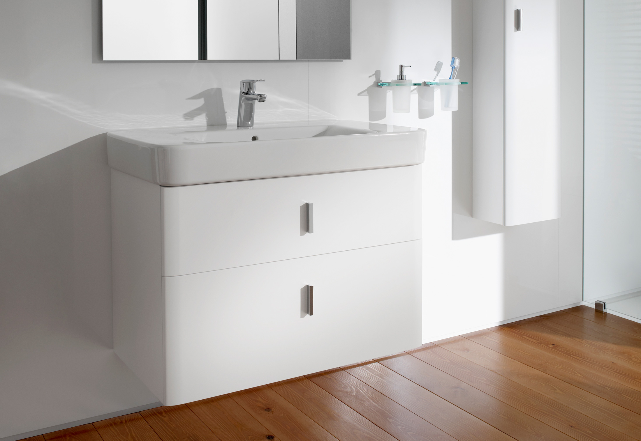 Senso Square wash basin with vanity unit by Roca | STYLEPARK