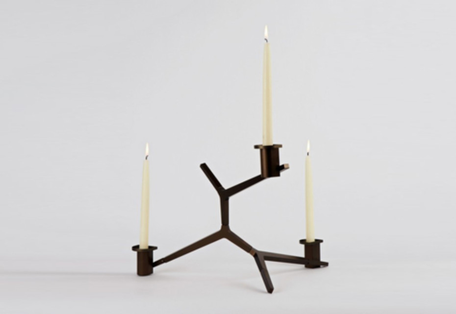 Agnes Table Candelabra 3 Candles