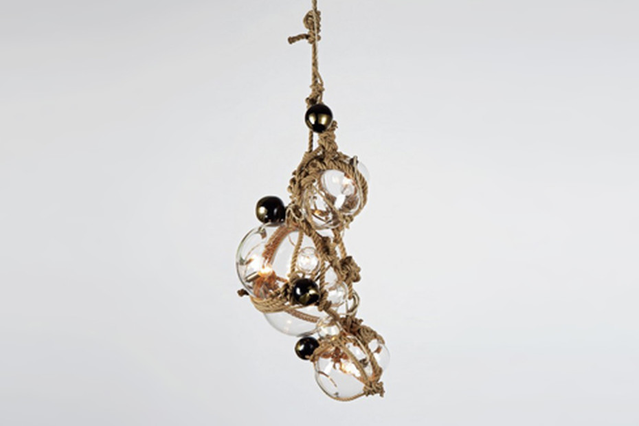 Knotty Bubbles Chandelier 1 Large, 2 Small Bubbles, 5 Barnacles