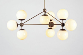 Modo Chandelier 3 sided 10 Globes  by  Roll & Hill