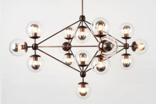 Modo Chandelier 4 sided 15x globes  by  Roll & Hill