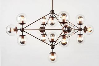 Modo Chandelier 4 sided 15x globes  von  Roll & Hill