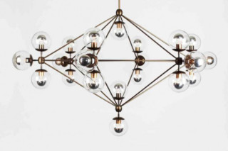 Modo Chandelier 6 sided 21x globes  by  Roll & Hill