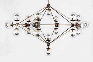 Modo Chandelier 6 sided 21x globes  von  Roll & Hill