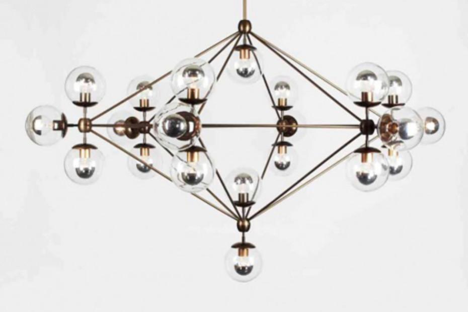 Modo Chandelier 6 sided 21x globes