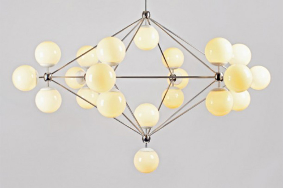 Modo Chandelier 6 sided 21x globes by Roll Hill STYLEPARK