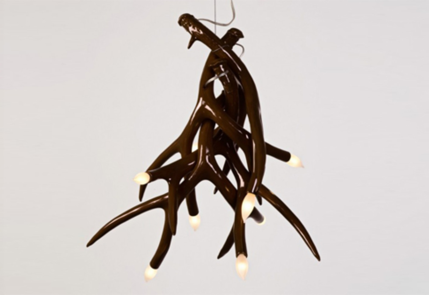 Superordinate antler chandelier 4 antlers by roll hill stylepark mozeypictures Image collections
