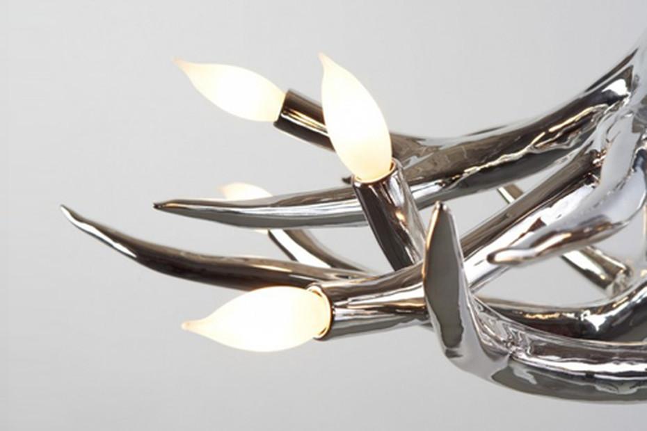 Superordinate Antler Chandelier 6 Antlers