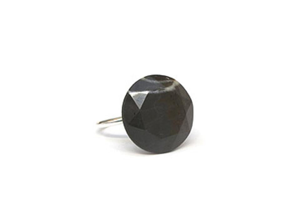 Brown White Stripes Isar Diamond Ring