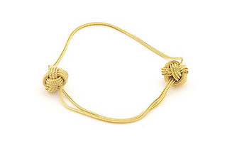 Gold Big Knot bracelet  by  Saskia Diez