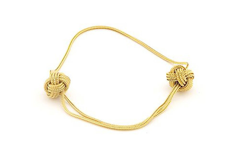 Gold Big Knot Armband