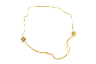 Gold Big Knot Necklace  by  Saskia Diez