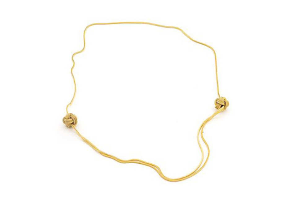 Gold Big Knot Necklace