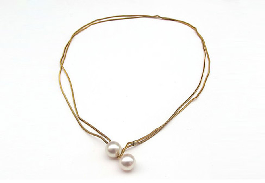 Gold Pearl Boule necklace