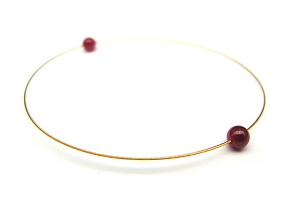 Gold Ruby Bracelet