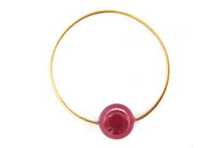 Gold Ruby ring  by  Saskia Diez