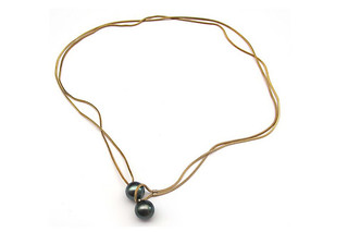 Gold Tahiti Boule necklace  by  Saskia Diez
