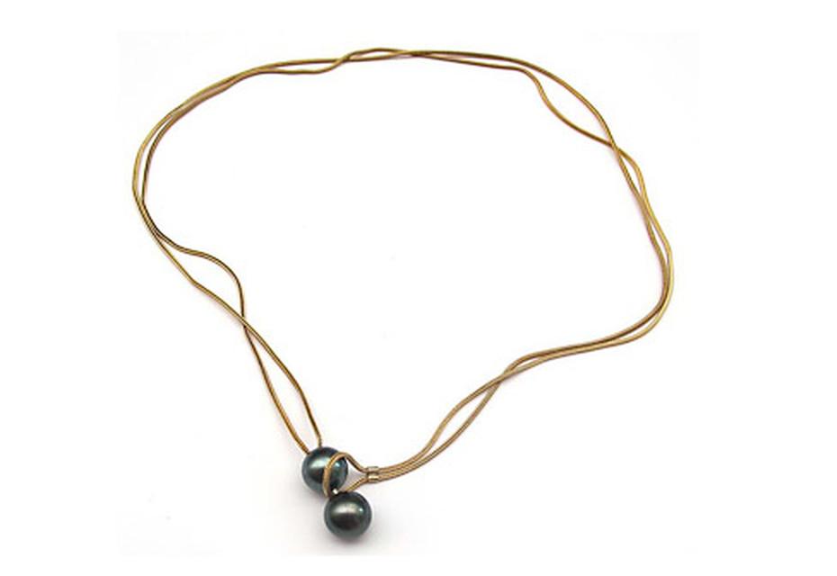 Gold Tahiti Boule necklace