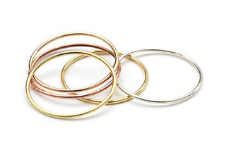 Gold Wire rings  by  Saskia Diez