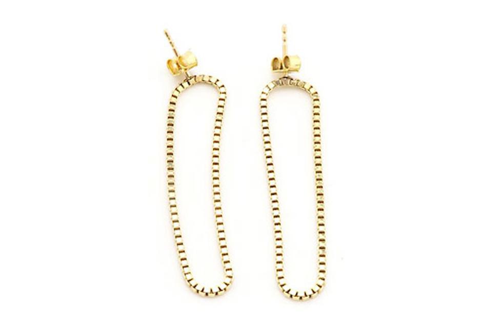 Long Gold Loop earrings