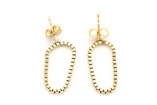 Short Gold Loop earrings  by  Saskia Diez