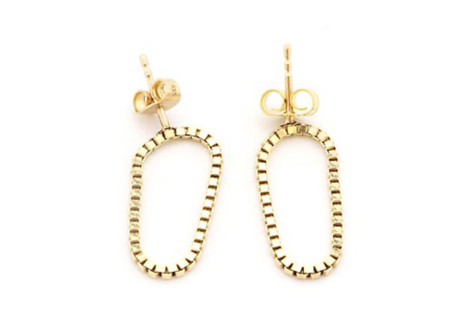Short Gold Loop earrings