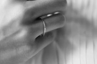 Silver Fine Cubic ring  by  Saskia Diez